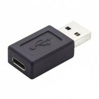 USB (3.0) Redukce, USB (3.0), USB A (3.0) M-USB C (3.1) F, 0, černá, plastic bag, plastová, 5 Gbps
