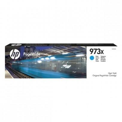 HP originální ink F6T81AE, HP 973X, cyan, 7000str., 82ml, HP PageWide Pro 452, Pro 477