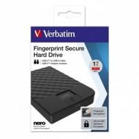 """Verbatim externí pevný disk, Fingerprint Secure HDD, 2.5"""", USB 3.1 Gen (3.0), 1TB, 53650, černý, šifrovaný s čtečkou otisků p..."""