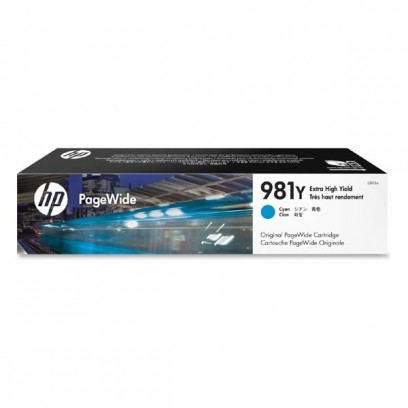 HP originální ink L0R13A, HP 981Y, cyan, 16000str., 185ml, extra high capacity, HP PageWide MFP E58650, 556, Flow 586