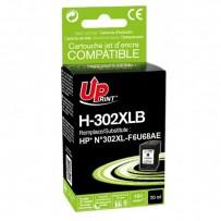 UPrint kompatibilní ink s F6U68AE, HP 302XL, black, 480str., 20ml, H-302XLB, pro HP OJ 3830,3834,4650, DJ 2130,3630,1010, Env...
