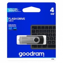 Goodram USB flash disk, 2.0, 4GB, černý, UTS2-0040K0R11, podpora OS Win 7