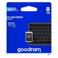 Goodram USB flash disk, 2.0, 8GB, UPI2, černý, UPI2-0080K0R11, podpora OS Win 7