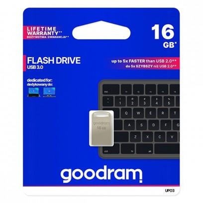 Goodram USB flash disk, 3.0, 16GB, UPO3, stříbrný, UPO3-0160S0R11