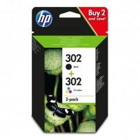Sada HP 302 černá + HP 302 barevná