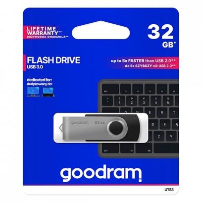 Goodram USB flash disk, 3.0, 32GB, UTS3, černý, UTS3-0320K0R11