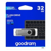 Goodram USB flash disk, 2.0, 32GB, UTS2, černý, UTS2-0320K0R11, podpora OS Win 7