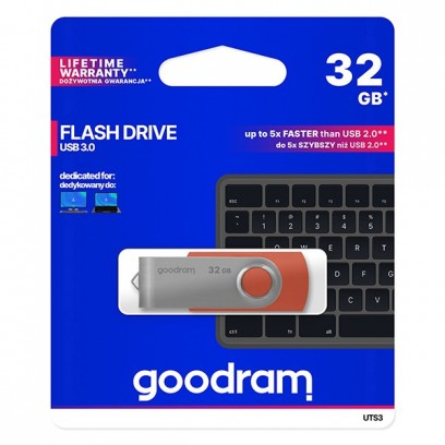 Goodram USB flash disk, 3.0, 32GB, UTS3, červený, UTS3-0320R0R11