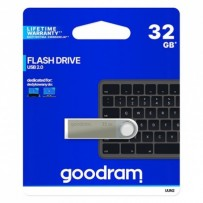 Goodram USB flash disk, 2.0, 32GB, UUN2, stříbrný, UUN2-0320S0R11