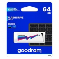 Goodram USB flash disk, 2.0, 64GB, UCL2, bílý, UCL2-0640W0R11, podpora OS Win 7