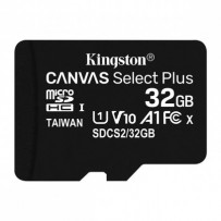 Kingston paměťová karta Canvas Select Plus, 32GB, micro SDHC, SDCS2/32GBSP, UHS-I U1 (Class 10), bez adaptéru, A1