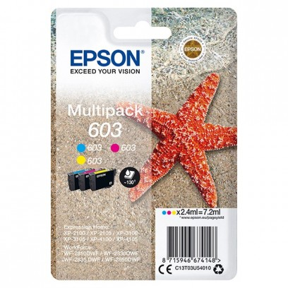 Epson originální ink C13T03U54010, color, 3x2.4ml, Epson Expression Home XP-2100, 2105, 3100, 3105 WF-2310