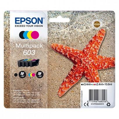 Zvýhodněná sada Epson 603 černá + modrá + červená + žlutá