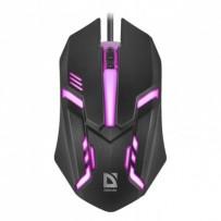 Defender Myš Cyber MB-560L, 1200DPI, optická, 3tl., 1 kolečko, drátová USB, černá, herní, podsvícená