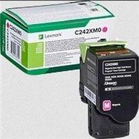 Toner Lexmark C242XM0 červený
