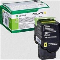 Toner Lexmark C242XY0 žlutý