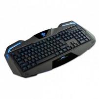 E-BLUE Auroza, Klávesnice herní, podsvícené okraje typ drátová (USB), černá, US