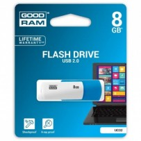 Goodram USB flash disk, 2.0, 8GB, UCO2, modrý, UCO2-0080MXR11, podpora OS Win 7
