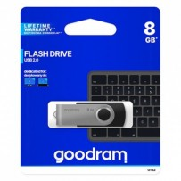 Goodram USB flash disk, 2.0, 8GB, UTS2, černý, UTS2-0080K0R11, podpora OS Win 7