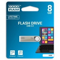 Goodram USB flash disk, 2.0, 8GB, UUN2, stříbrný, UUN2-0080S0R11