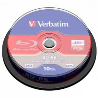 Verbatim BD-RE, Single Layer ScratchGuard Plus, 25GB, cake box, 43694, 2x, 10-pack, pro archivaci dat