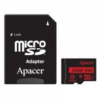 Apacer paměťová karta Secure Digital, 32GB, micro SDHC, AP32GMCSH10U5-R, UHS-I U1 (Class 10), s adaptérem