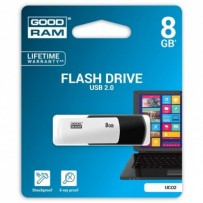 Goodram USB flash disk, 2.0, 8GB, UCO2, černý, UCO2-0080KWR11, podpora OS Win 7
