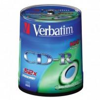 Verbatim CD-R, 43411, DataLife, 100-pack, 700MB, Extra Protection, 52x, 80min., 12cm, bez možnosti potisku, cake box, Standar...