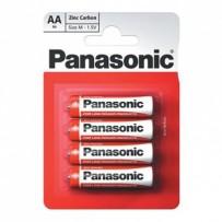 Baterie zinkouhlíková, AA, 1.5V, Panasonic, blistr, 4-pack