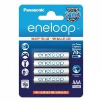 Přednabité baterie, AAA, 1.2V, 750 mAh, Panasonic-Eneloop, blistr, 4-pack