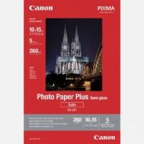 """Canon Photo Paper Plus Semi-Glossy, foto papír, pololesklý, saténový typ bílý, 10x15cm, 4x6"""", 260 g/m2, 5 ks, 1686B072, inkou..."""