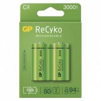 Baterie Ni-MH, HR14 (C) nabíjecí, 1.2V, 3000 mAh, GP, krabička, 2-pack
