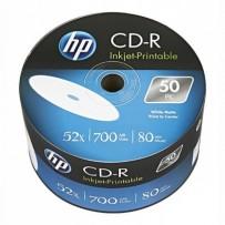 HP CD-R, CRE00070WIP-3, 50-pack, 700MB, 52x, 80min., 12cm, Printable, bulk, Standard, pro archivaci dat