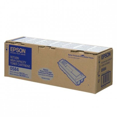 Epson originální toner C13S050584, black, 8000str., return, high capacity, Epson Aculaser M2400, MX20