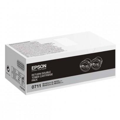 Epson originální toner C13S050711, black, 2x2500str., return, Epson AcuLaser M200, MX200