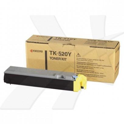 Kyocera originální toner TK520Y, yellow, 4000str., 1T02HJCEU0, Kyocera FS-C5015N