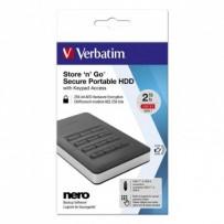 """Verbatim externí pevný disk, Store N Go Secure Portable, 2.5"""", USB 3.0 (3.2 Gen 1), 2TB, 53403, černý, šifrovaný s numerickou..."""