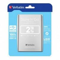 "Verbatim externí pevný disk, Store N Go, 2.5"", USB 3.0 (3.2 Gen 1), 2TB, 53189, stříbrný"