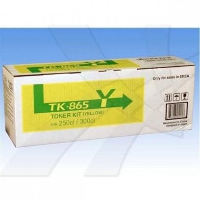 Kyocera originální toner TK865Y, yellow, 12000str., 1T02JZAEU0, Kyocera 250Ci/300Ci