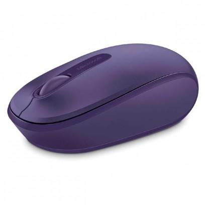 Microsoft Myš Mobile Mouse 1850, 1000DPI, 2.4 [GHz], optická, 3tl., 1 kolečko, bezdrátová, fialová, 1 ks AA, Klasická, Micros...