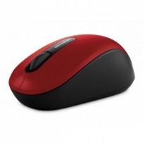 Microsoft Myš Bluetooth Mobile Mouse 3600, 1000DPI, Bluetooth, optická, 3tl., 1 kolečko, bezdrátová, červená, 1 ks AA, klasic...