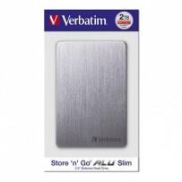 """Verbatim externí pevný disk, Store,n,Go ALU Slim, 2.5"""", USB 3.0, 2TB, 53665, vesmírné šedý"""