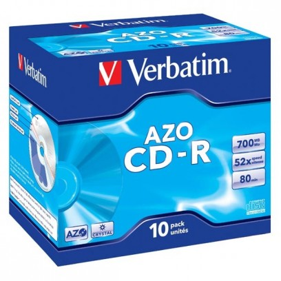 Verbatim CD-R, 43327, DataLife PLUS, 10-pack, 700MB, Super Azo, 52x, 80min., 12cm, Crystal, bez možnosti potisku, jewel box, ...