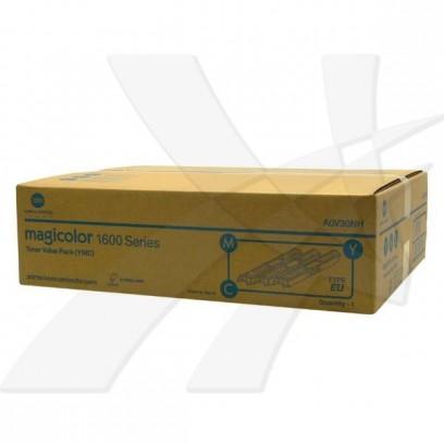 Konica Minolta originální toner A0V30NH, cyan/magenta/yellow, 7500 (3x2500)str., Konica Minolta QMS MC1650EN, MC1650END, MC16...