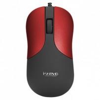 Marvo Myš DMS002RD, 1200DPI, optika, 3tl., 1 kolečko, černo- červená, kancelářská