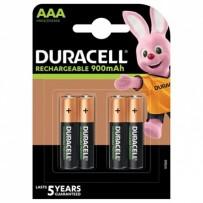 DURACELL Nabíjecí baterie mikrotužková AAA 900 mAh 4 ks