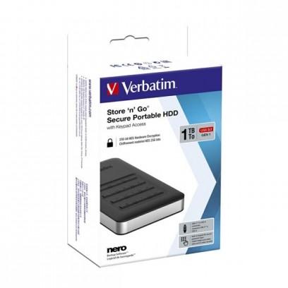 """Verbatim externí pevný disk, Store N Go Secure Portable, 2.5"""", USB 3.0 (3.2 Gen 1), 1TB, 53401, černý, šifrovaný s numerickou..."""
