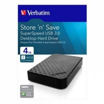 "Verbatim externí pevný disk, Store N Save, 3.5"", USB 3.0 (3.2 Gen 1), 4TB, 47685, černý"