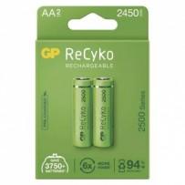 Nabíjecí baterie, AA (HR6), 1.2V, 2450 mAh, GP, papírová krabička, 2-pack, ReCyko