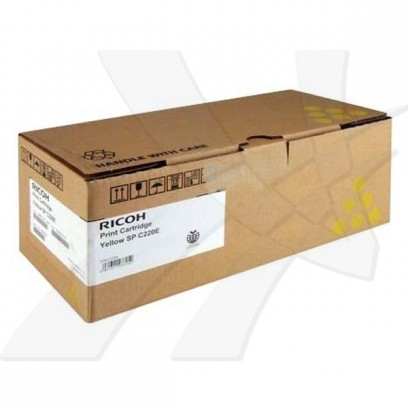 Ricoh originální toner 406768, 406055, 406147, 406106, 407643, yellow, 2000str., Ricoh Aficio SPC220N, SPC220S, SPC221N, SPC2...